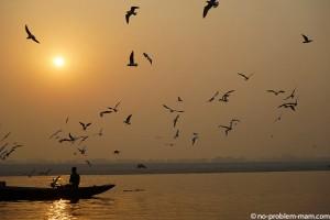 Le Gange au lever du jour
