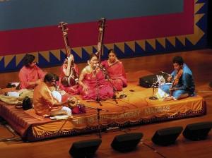 Bombay Jayashri (Vocal), H.N. Bhaskar (Violin), V.V. Ramanamurthy (Mridangam), Giridhar Udupa (Ghatam)