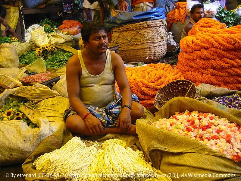 Mallik Ghat, marché au fleurs