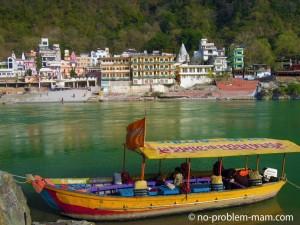 Le gange vers Lakshman Jhula, Uttarakhand