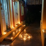 Oil lamps at the houses entrance