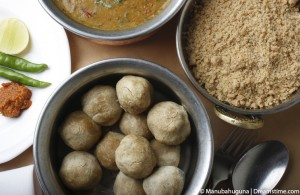 http://www.dreamstime.com/stock-image-top-view-dal-bati-lentil-based-dish-dumplings-cooked-curry-rajasthan-cuisine-served-rice-image38469991