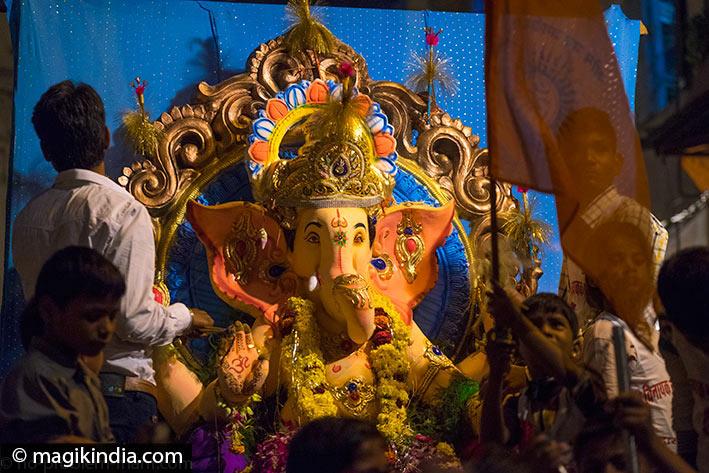 Ganesha Chaturthi procession in Udaipur, Rajasthan