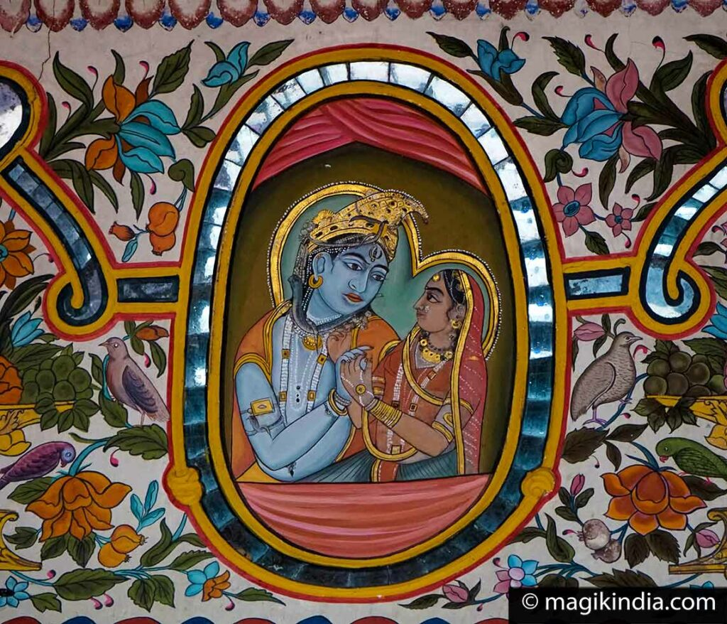 This image has an empty alt attribute; its file name is radha-krishna-frescoe-shekhawati-1024x878.jpg